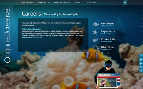 Screenshot of Jobs Page liquifiedcreative.com - Careers   Liquified Creative - captured Sept. 30, 2014