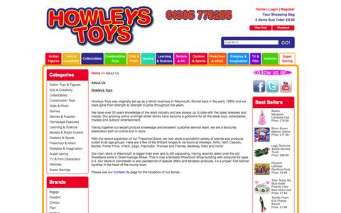 Screenshot of About Page howleys.co.uk - About Us - captured Oct. 3, 2014