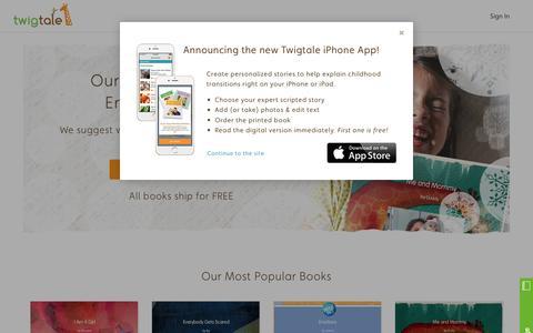 Screenshot of Home Page twigtale.com - Twigtale - captured Feb. 21, 2016
