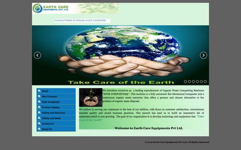 Screenshot of Home Page ecepl.com - Earth Care Equipments Pvt Ltd - www.ecepl.com - captured Oct. 1, 2014