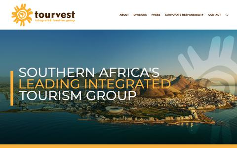 Screenshot of Home Page tourvest.co.za - Tourvest - Southern Africa's leading integrated tourism group - captured Oct. 20, 2018