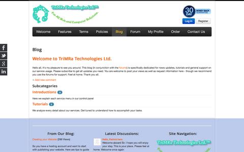 Screenshot of Blog trimratech.com - Blog - TriMRaTech.Com   free web hosting, web design, domains - captured Oct. 8, 2014