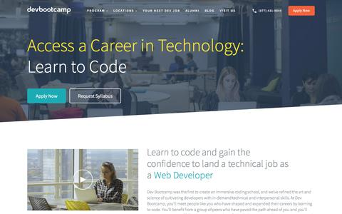 Learn to code and become a web developer | Dev Bootcamp