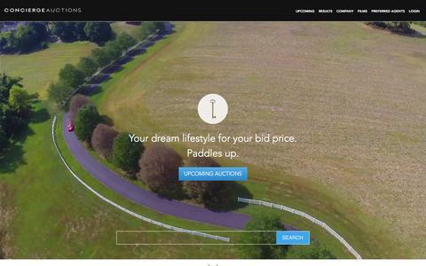 Screenshot of Home Page conciergeauctions.com - Real Estate | Luxury Home Auctions | Concierge Auctions - captured Dec. 1, 2015