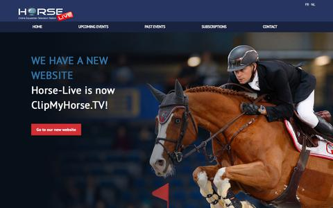 Screenshot of Home Page horse-live.com - Horse-Live | Watch live or recorded horse competitions - captured Sept. 29, 2018