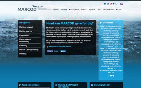 Screenshot of Services Page marcod.dk - Hvad kan Marcod g�re for dig? - captured Dec. 15, 2015