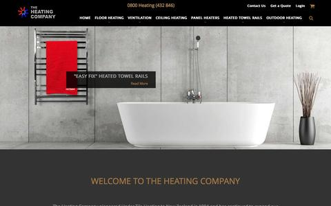 Screenshot of Home Page theheatingcompany.co.nz - Heating Ventilation and Air Conditioning Solutions NZ | The Heating Company - captured Dec. 22, 2016