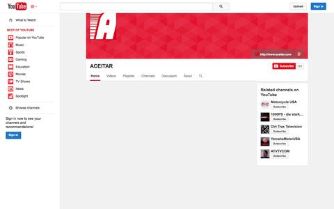 Screenshot of YouTube Page youtube.com - ACEITAR  - YouTube - captured Oct. 23, 2014