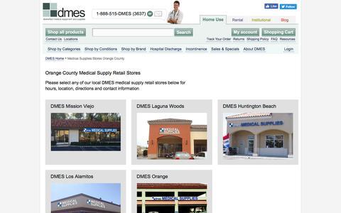 Screenshot of Locations Page dmes.com - Medical Supplies Stores Orange County - captured Nov. 23, 2016