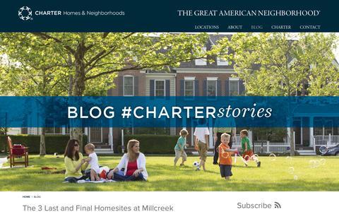 Screenshot of Blog charterhomes.com - Charter Homes & Neighborhoods | #CHARTERstories - captured Nov. 25, 2015