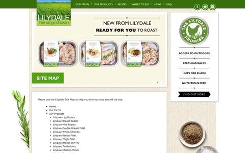 Screenshot of Site Map Page freerangechicken.com.au - Site Map - Lilydale free range chicken - captured Oct. 8, 2014