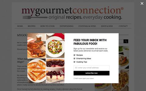 Screenshot of FAQ Page mygourmetconnection.com - Frequently Asked Questions | MyGourmetConnection® - captured July 2, 2017