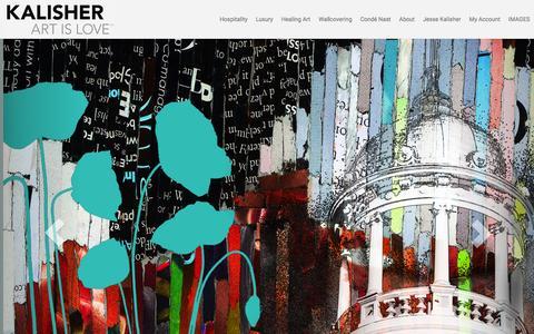 Screenshot of Home Page kalisher.com - Kalisher - Hospitality Art - captured Dec. 7, 2015