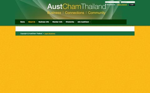 Screenshot of About Page austchamthailand.com - The Australian-Thai Chamber of Commerce (AustCham) - About Us - captured Oct. 26, 2014