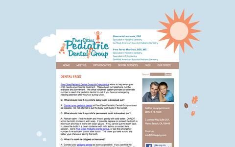 Screenshot of FAQ Page 5citiespdg.com - FAQS   5citiespdg.com - captured Oct. 6, 2014
