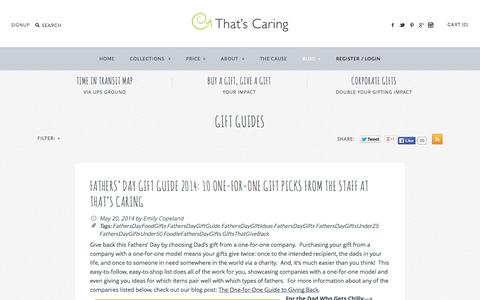 Screenshot of Blog thatscaring.com - Gift Guides - captured Oct. 26, 2014