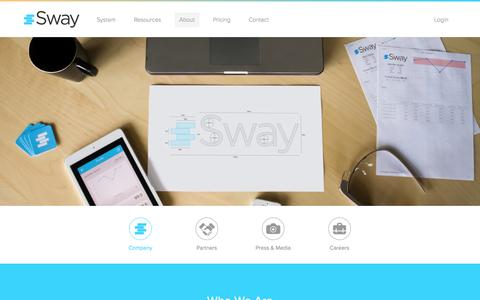 Screenshot of About Page swaymedical.com - Company - Sway - captured Sept. 17, 2014