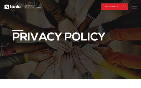 Screenshot of Privacy Page tanla.com - Enabling Cloud Communications.. - captured Sept. 24, 2018