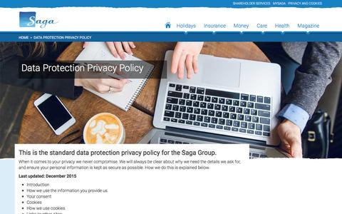 Saga Group Data Protection Privacy Policy - Saga