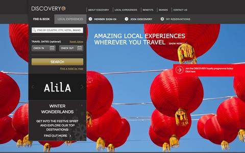 Screenshot of Home Page gha.com - Luxury Resorts & Hotels - Hotel Loyalty Programme - Global Hotel Alliance - captured Jan. 23, 2015