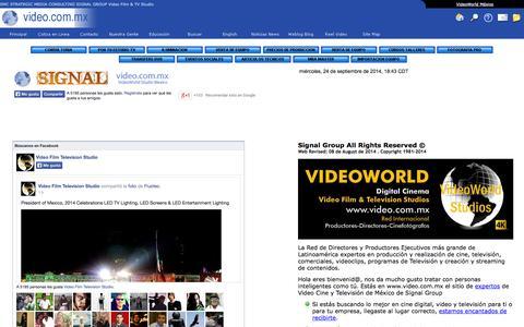 Bienvenido a VideoWorld Mexico los expertos de producción de Video Cine y  Televisión Studio Production PostProduction Equipment Sales and Rentals