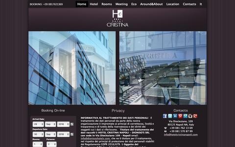 Screenshot of Privacy Page hotelcristinanapoli.com - Privacy - Hotel Cristina Napoli - captured Sept. 30, 2018