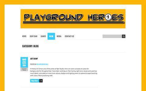 Screenshot of Blog playgroundheroesstudio.com - Blog   Playground Heroes Studio - captured Sept. 30, 2014