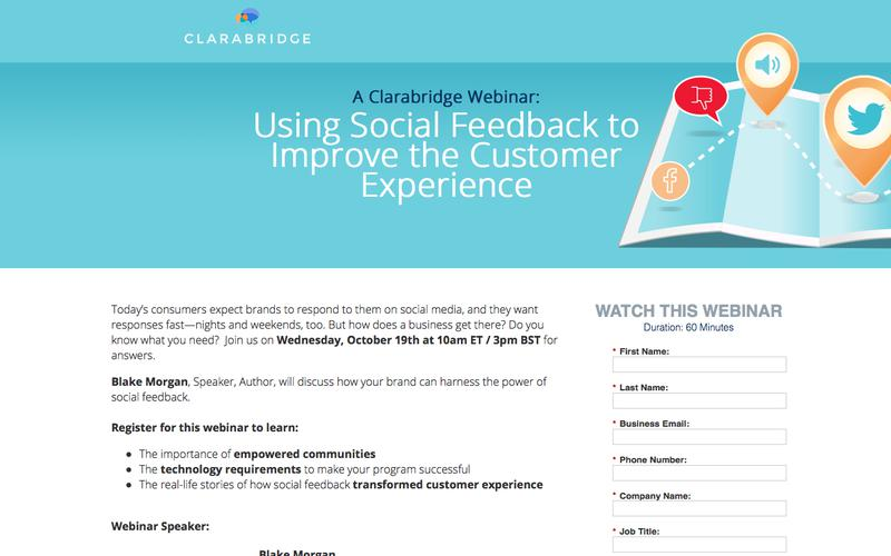 Webinar: Using Social Feedback to Understand & Improve the End-to-End Customer Journey