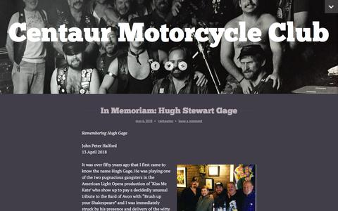 Screenshot of Press Page wordpress.com - News – Centaur Motorcycle Club - captured July 1, 2018