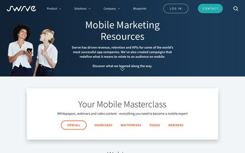 Mobile Marketing Resources | Swrve