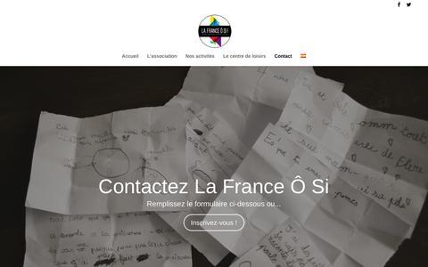 Screenshot of Contact Page lafranceosi.com - Contactez nous - La France Ô Si! - captured Sept. 26, 2018
