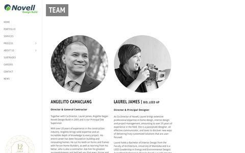 Screenshot of Team Page novelldesignbuild.com - Our Team - Novell Design BuildNovell Design Build - captured Aug. 14, 2016