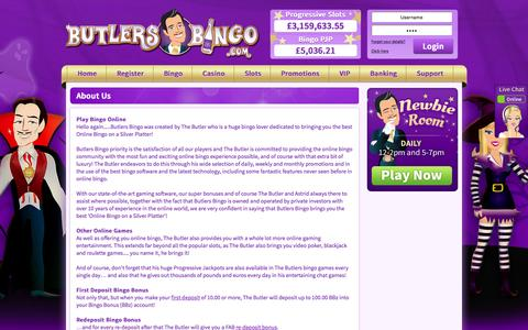 Screenshot of About Page butlersbingo.com - About Us | Butlers Bingo - captured Oct. 27, 2015
