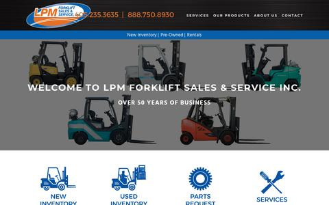 Screenshot of Home Page lpmok.com - LPM Forklift Sales & Service, Inc. - captured Sept. 25, 2018