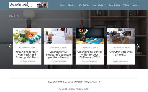Screenshot of Blog organizemeny.com - Blog | Organize Me! of NY, LLC - captured Nov. 16, 2018