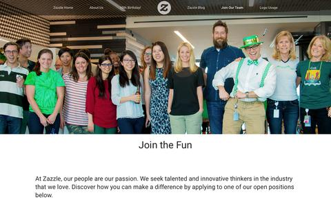 Screenshot of Jobs Page zazzle.com - Zazzle Jobs - captured June 14, 2019