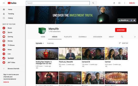 Manulife - YouTube - YouTube