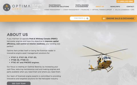 Screenshot of About Page optima-aero.ca - About us | Optima Aero - captured June 16, 2017