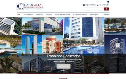 Screenshot of Home Page caiocalfat.com - Caio Calfat - Real Estate Consulting - Planning e Development - captured Jan. 24, 2016