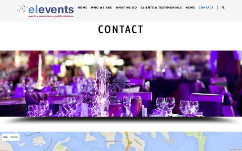 Screenshot of Contact Page elevents.com.au - Contact   elevents – Events & Marketing Communications (Sydney, Australia)   Award winning event management and marketing services in Australia - captured Dec. 15, 2015
