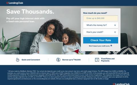 LendingClub | Need a Loan? Get a Low Rate!