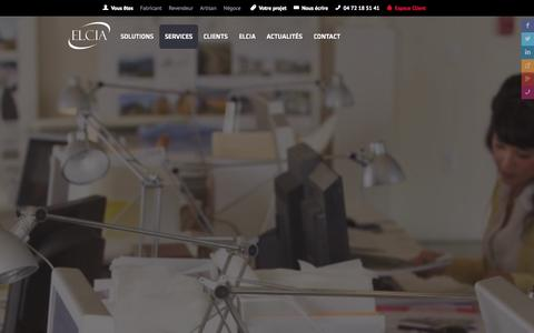 Screenshot of Services Page elcia.com - ELCIA - Services experts sur-mesures pour professionnels de la menuiserie - captured Oct. 28, 2014