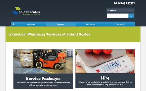 Screenshot of Services Page solentscales.co.uk - Services - Industrial Weighing Scales Supplier | Solent Scales - captured Oct. 22, 2017