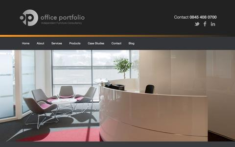 Screenshot of Home Page officeportfolio.co.uk - Office Portfolio - Independent Furniture Consultancy - captured Feb. 22, 2016