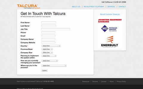 Screenshot of Signup Page talcura.com - Talcura-Sign Up Management - captured Oct. 31, 2014
