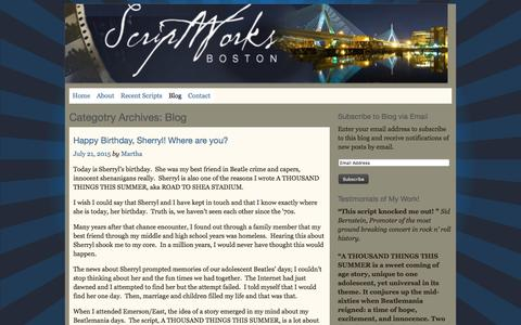 Screenshot of Blog scriptworksboston.com - Blog | Script Works Boston - captured Jan. 12, 2016