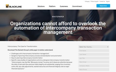 Screenshot of Case Studies Page blackline.com - Intercompany The Case for Transformation - captured Nov. 29, 2019