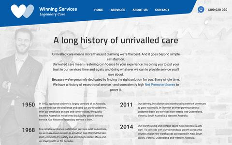 Screenshot of About Page winningservices.com.au - About Winning - Winning Services - captured Oct. 22, 2018