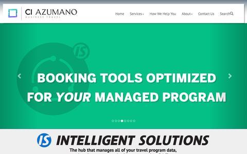 Screenshot of Home Page ciazumano.com - CI Azumano Business Travel :: Home - captured April 14, 2016