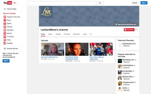 Screenshot of YouTube Page youtube.com - LockandMane's channel  - YouTube - captured Oct. 22, 2014